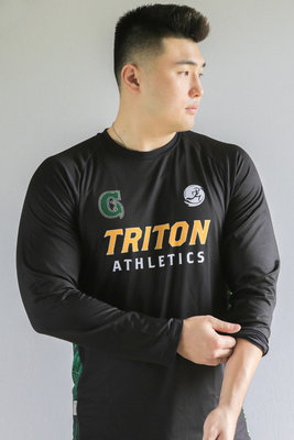 Run Guam / Triton Athletics Long Sleeve Warm Up Tee (Black)