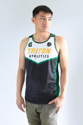 Run Guam Triton Athletics Singlet (White)