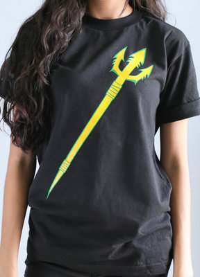 Hafaloha© Trident T-Shirt (Yellow on Black)