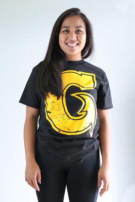 Hafaloha© Big G T-Shirt (Yellow on Black)