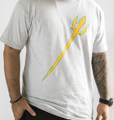 Hafaloha© Trident T-Shirt (Yellow on Gray)