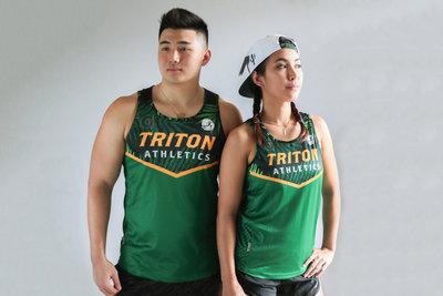 Run Guam Triton Athletics Singlet (Green)