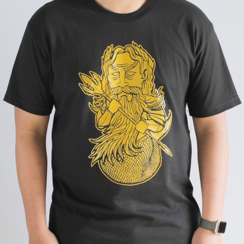 Hafaloha© King Triton T-Shirt  (Black)