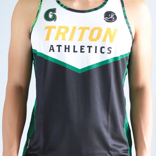 Run Guam Triton Athletics Singlet (White)