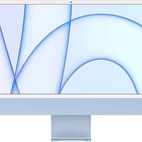 24-In. iMac w/Retina 4.5K display:Apple M1 chip w/8-core CPU & 7-core GPU, 8GB unified memory, 256GB Storage, 2 Thunderbolt/USB 4 ports/ Magic Keyboard-Blue